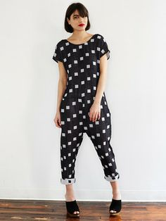 Onesie - Black Hopscotch by ace & jig for Of a Kind