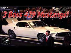 3 Boss 429 Ford Mustang's bring 3/4 of a million at Barrett-Jackson 1969...