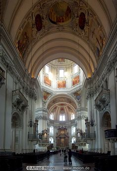 Interior of the Dom, Salzburg Austria