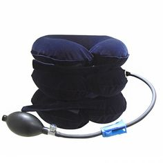 cervical neck traction device inflatable pillow improve spine alignment to reduce neck pain cervical