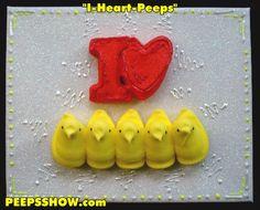 """Peeps Art: """"I Heart Peeps"""""""