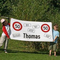 XXL Banner zum 50. Geburtstag - Achtung 50
