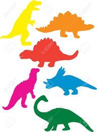 Resultado de imagen de siluetas de dinosaurios