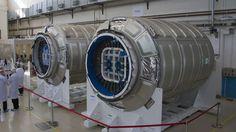 Le port d'amarrage berthing, du Cygnus, est similaire à celui que le Dream Chaser utilisera lors de ses deux ou trois premiers vols à destination de l'ISS. © Rémy Decourt