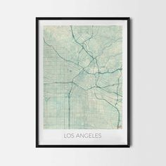 Los Angeles art posters - City Art Map Posters and Prints