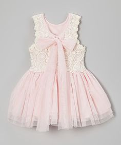 Take a look at the Pink Crochet Bow Babydoll Dress - Infant, Toddler & Girls on #zulily today!
