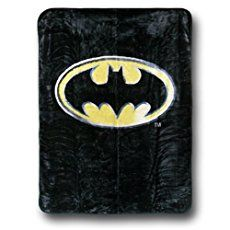 New Batman Emblem Queen Size Plush Raschel Blanket