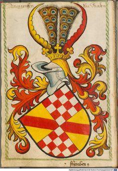 Scheibler'sches Wappenbuch Süddeutschland, um 1450 - 17. Jh. Cod.icon. 312 c  Folio 12