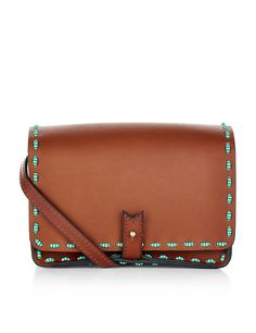 Tan Stitch Casanova Shoulder Bag