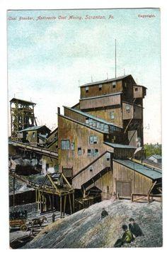 PA Scranton Coal Breaker Anthracite Coal Mining