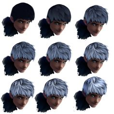 Hair tutorial - Jack Frost by ryky on deviantART  More ressources at: http://www.pinterest.com/0b8804nvxotrbj7/