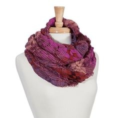 Beautiful fuchsia, purple, and red tweed infinity scarf - NWT  New #CowlInfinity