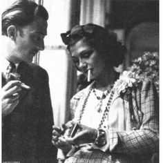 Dali and Chanel smoking