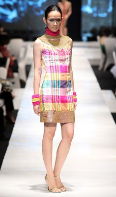 A model showcases a design on the runway by Malini Ramani as part of Indonesia - India Fashion Night on day one of Jakarta Fashion Week 2009 at the Fashion Tent, Pacific Place on November 14, 2009 in Jakarta, Indonesia.