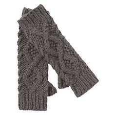 Alpaca fingerless gloves, John Lewis