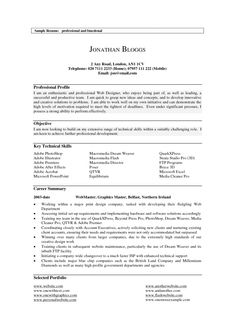 latest collection of resume profile example