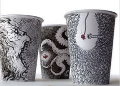 The lucrative styrofoam cup cartoons of Cheeming Boey - Trained in computer animation, Boey found himself in a coffee bar without any paper, so he doodled on a discarded polystyrene coffee cup. While seemingly innocuous, original Boey's routinely sell for hundreds of dollars, sometimes even over $ 1,000. Jeez, I need to doodle more, lol! #doodle #art