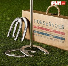 A traditional picnic game favorite. Horseshoe Game Rental includes four horse shoes and 2 posts in a game rental game. Picnic Activities, Picnic Games, Shoe Game Wedding, Wedding Games, Wedding Planning, Outdoor Games, Outdoor Fun, Horseshoe Game, Living Room Bookcase
