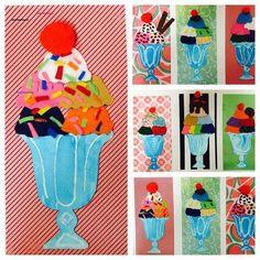 pop art Bildergebnis fr visuelle Bildung - So - art Summer Art Projects, School Art Projects, Art 2nd Grade, Classe D'art, Kindergarten Art, Art Lessons Elementary, Art Education Lessons, Elementary Schools, Spring Art