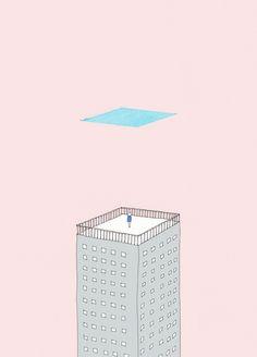 空は四角い  Illustrations by Kashiwai