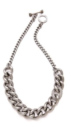 Juicy Couture Pave Link Necklace
