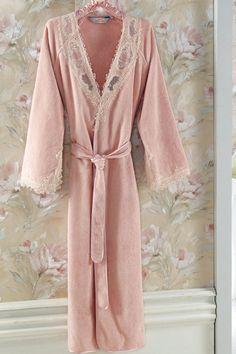 Župan DESTAN Elegant, Mantel, Pink, Cotton, Design, Products, Fashion, Dress, French Style