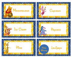FREE Winnie the Pooh Food Labels