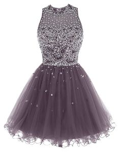 """Bbonilinedress Short Tulle Beading Homecoming Dress Prom Gown"" by ariellasquality ❤ liked on Polyvore"