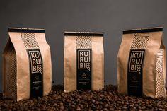 Kurubi Brazilian Coffee — The Dieline - Branding & Packaging Design Designed by Espinafre Comunicadores Rice Packaging, Honey Packaging, Brand Packaging, Design Packaging, Coffee Logo, Coffee Branding, Coffee Packaging, Coffee World, Coffee Photos