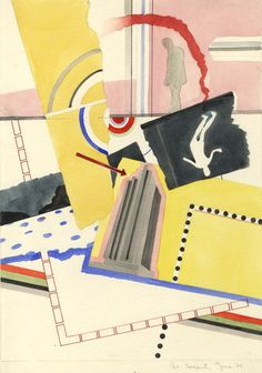 Patricia Marion Fogarty - 1973 Watercolour, Design Montage Effect