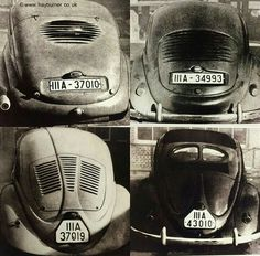 KDF cars. The first prototypes for what would eventually become the VW Beetle. Built before the Second World War.