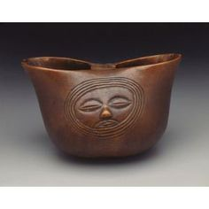 Sharing palm wine with a friend--Yaka people DRC late 19th/early 20th c  #cup #Yaka