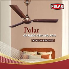 Polar Optimo Ceiling Fan with attractive metallic finish and contemporary design to complement modern decor.  #Polar #Fan #CeilingFan #PolarCeilingFan #OptimoCeilingFan Modern Decor, Ceiling Fan, Contemporary Design, Cocoa, Metallic, Home Decor, Homemade Home Decor, Ceiling Fans, Ceiling Fan Pulls