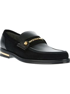 VERSACE - gold-tone heeled loafer 5