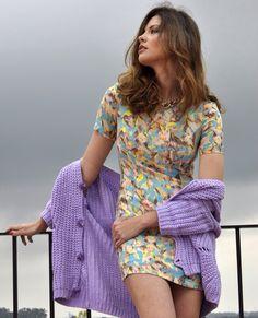 Espectacular Jessica Bueno con cardigans y vestido de Ewigem, hoy en su blog. Feliz lunes a tod@s!!! http://jessica-bueno.com/2014/04/28/lluevaohagasol/