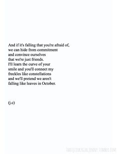 Falling for you.- Not my kinda thing, staying mute and all but so well-written.