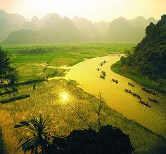 Trek au Vietnam. Tam Coc.