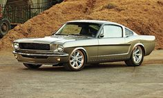 """This '66 Mustang named """"Smokin' Oats"""" sold at Barrett Jackson Scottsdale today for $143,000.00. It was built by Pinkee's Rod Shop Royce & Jane Glader"""