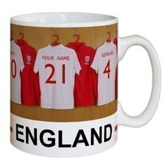 Put their name on the back of  a shirt alongside the men's England team! #England #Football #FunGifts #FootballGifts   £10.99