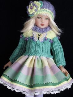 Helen Kish 14 inch Dolls Handmade Outfits.