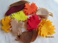 100 Piece Die Cut Felt Fall Leaves by PearCreekCottage on Etsy, $11.00