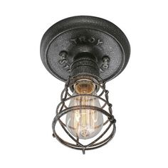 Troy Lighting Conduit 1 Light Flush Mount