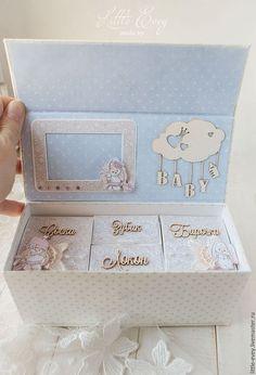 """Подарки для новорожденных, ручной работы. Заказать Коробочка """"Мамины сокровища"""" для девочки. Little Evey (украшения, открытки). Ярмарка Мастеров."""