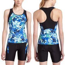 Danskin Womens Triathlon TRI Tank Top & Short Swim Bike Run Suit Medium Large $45