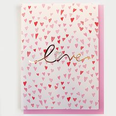 Love Greeting Card #valentines #hearts #goldfoil #greetingcard #love