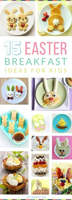 Easter Breakfast Ideas for Kids | Healthy, easy and fun recipes for you to make - also great for brunch! Plus creative food for lunch, snack and treats!