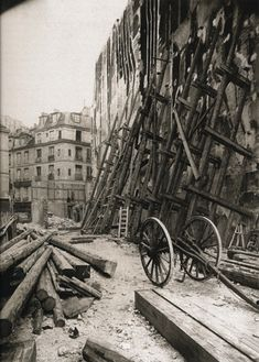 Franco Prussian War Battlements - Black and White Photograph by Eugène Atget