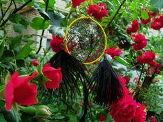 "Little weightless Dreamcatcher in the bushes of roses. Heralds the coming of summer  <script async defer src=""//assets.pinterest.com/js/pinit.js""></script>"