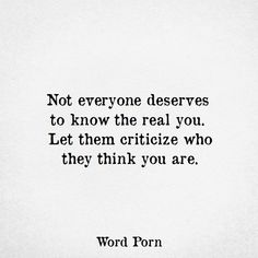 The real you....
