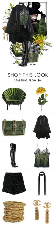 """Statement Jewelry"" by syhorykof ❤ liked on Polyvore featuring Cappellini, Nicholas Kirkwood, ANNIE, Valentino, Dice Kayek, Alexander McQueen, Sharon Wauchob, Manish Arora and Miss Selfridge"